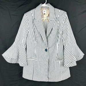 Cabi Jacket Blazer Womens Size 6 Bell Sleeve
